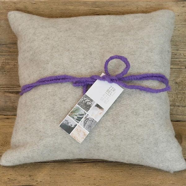 Cuscino di cirmolo in lana di pecora 40 x 40