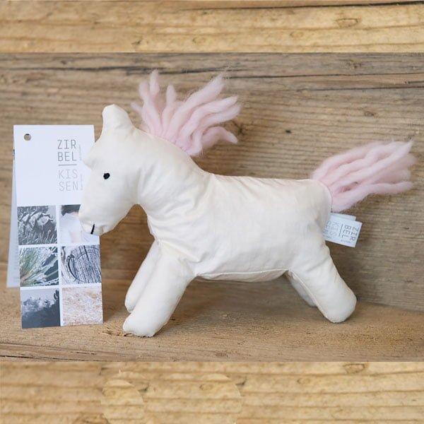 Cavallino bio in cirmolo bianco naturale - criniera rosa