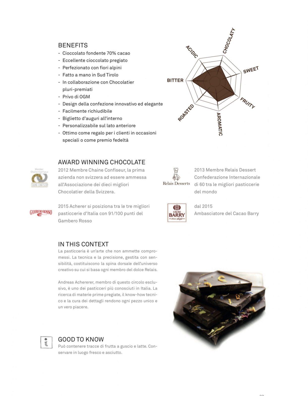 DARK CHOCOLATE - Cioccolato fondente 70% con fiori